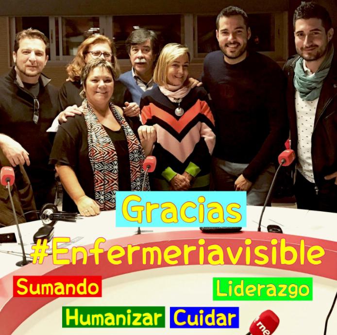 """Participación en el programa de Radio Nacional """"La noche en Vela"""": haciendo #EnfermeriaVisible #FFpaciente"""